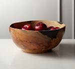 Still Teak Wood and Black Resin Bowl