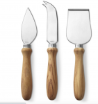 Olivewood Cheese Knives, Set of 3