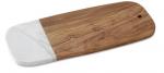 Olivewood & White Marble Rectangular Board
