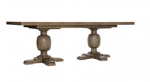 Rustic Patina Double Pedestal Dining Table | Peppercorn