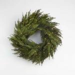 Pre-Lit Hemlock Pine Wreath
