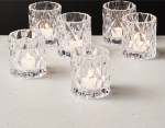 Betty Clear Tea Light Candle Holder | Set of 6