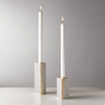 Shagreen Ivory Taper Candle Holder